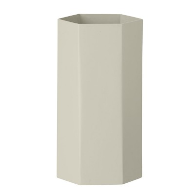 Hexagon vase, grå