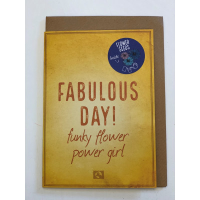 Fabulous day! funky flower power girl