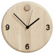 Andersen Furniture Wood Time ur, Ø22 cm, eg