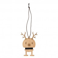 Oak. Small Reindeer Ornament 2 stk
