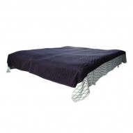 Bed Blanket - Sengetæppe - Black / Blue