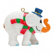 Christmas elephant for hanging, Frosty the Snowman