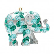 Christmas elephant for hanging, Winter Forest, Silver