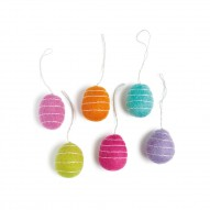 Easter Egg with Stripes, 6 Colours