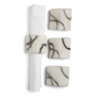 Napkin Ring Stone, Set of 4 pcs
