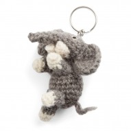 Keychain, Elephant, Dark Grey