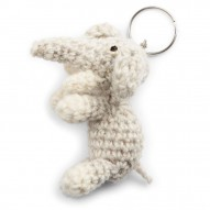 Keychain, Elephant, Light Grey