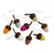 Acorns, Set of 8 pcs
