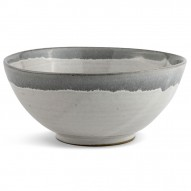 Bowl, Large, Dip Dye Grey