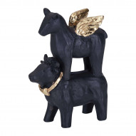 Cow and horse sort H 9,5cm