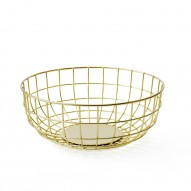 Norm Wire Bowl, Brass