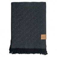 Mezzoforte Throw, Plaid, 120 x 175 cm, sort