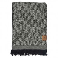 Mezzoforte Throw, Plaid, 120 x 175 cm, sort/hvid