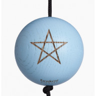 Starball light blue - malet egetræ m. gravering