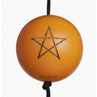 Starball orange - malet egetræ m. gravering