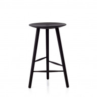Di Volo Stool 65 cm, stained beech
