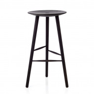 Di Volo Stool 75 cm, stained beech