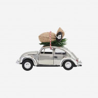 Mini Xmas Car, chrome 8,5 cm