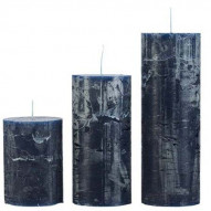 Rustic candle, Medium - BLEU 60 timer