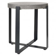 Concrete Side Table Round Tall