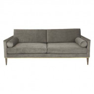 Club Couch Velvet - PLATINUM