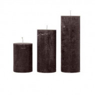 Rustic candle, Medium - CHESTNUT 60 timer