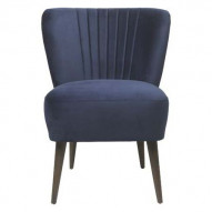 Chair Copenhagen Lounge Velvet - ROYAL BLUE