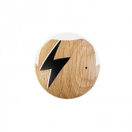 ZIGGY Wall Hook, Oak, Ø 9cm