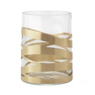 Tangle vase, 12x16,5 cm - medium - brass