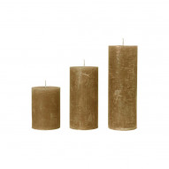Rustic candle, Medium - AMBER 60 timer