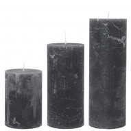Rustic candle, Large - ANTRACITE 75 timer