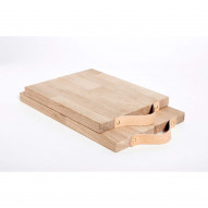 Servingboard with leather handle, Oak - Large