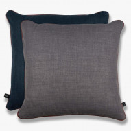 SQUARE pude, 45 x 45 cm, dark blue/grey