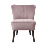 Chair Copenhagen Lounge Velvet - OLD ROSE